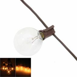 100 ft G40 Brown Outdoor Globe Patio String Lights 125PCS Cl