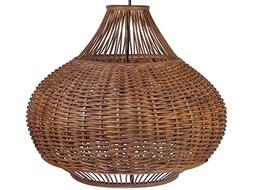 "KOUBOO 1050064 Handwoven Wicker Pear Pendant lamp, 18"" x 18"""