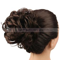 2-6 Days Delivery Hair Buns Messy Curly Scrunchies Drawstrin