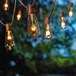 20Ft Outdoor Patio String Lights with 20 Clear Edison ST40 B
