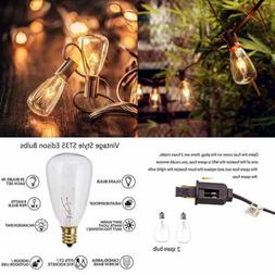 25Ft Outdoor Edison String Lights W 25 ST35 Bulbs UL Listed