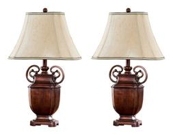 """Kings Brand 26""""H Antique Brushed Red With Light Brown Fabric"""