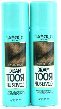2x L'Oreal Paris Magic Root Cover Up Light Brown Gray Concea