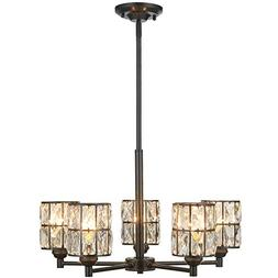 Doraimi 3/5 Light Crystal Chandelier Lighting Modern and Con