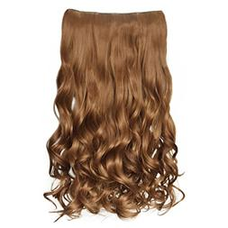 "REECHO 20"" 1-pack 3/4 Full Head Curly Wave Clips in on Synth"