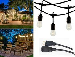 48 FT Waterproof String Lights Outdoor Patio Garden Yard Com