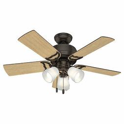 "Hunter 51105 Prim Hunter 42"" Ceiling Fan with Light, Small,"