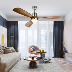 "52"" Reversible Ceiling Fan with LED Light Kit & Remote Contr"