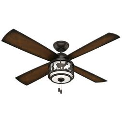 "Hunter 52"" Rustic Lodge Ceiling Fan with Light - Premier Bro"