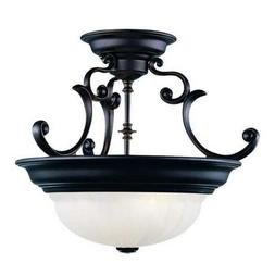 Dolan Designs 524-30 Richland 2 Light Semi Flush mount, Roya