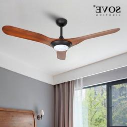 52inch Chrome Modern LED Ceiling Fans With Lights Bedroom Ce