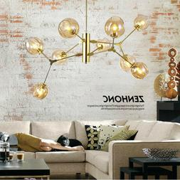 9 Heads Ceiling Lighting Pendant Lamp Glass Chandelier Ceili