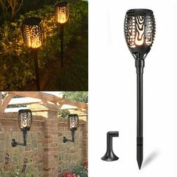 96 LED Solar Wall Light Outdoor Flickering Dancing Flame Tor
