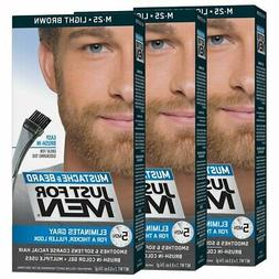 Just For Men Mustache & Beard Brush-In Color Gel, Light Brow