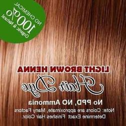 LIGHT BROWN color Henna hair: 100% Organic and Chemical Free