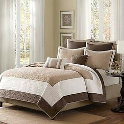 Madison Park Attingham 7 Piece Coverlet Set Size: King Beige