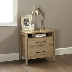 South Shore Gravity 2-Drawer Nightstand, Rustic Oak with Sat
