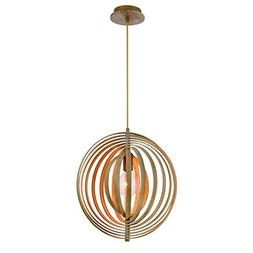 Eurofase Abruzzo Sleek Retractable Wood Pendant, 1 A19 Light