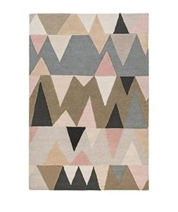 Diva At Home 2' x 3' Abstract Mountains Blush Pink, Peanut B