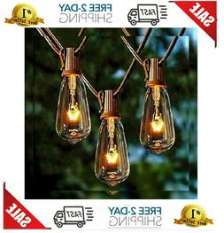 Afirst Outdoor String Lights 20Ft with 20 Edison Bulbs Vinta