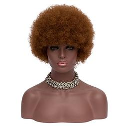 """BERON 8"""" Afro Wigs Kinky Short Curly Hair Wigs Fluffy Synthe"""