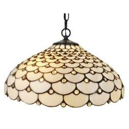 Amora Lighting AM011HL18 Tiffany Style Jeweled Hanging Lamp,