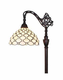 Amora Lighting AM028FL12 Tiffany Style 62 Jeweled Reading Fl