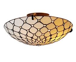 Amora Lighting AM030CL17 Tiffany Style Ceiling Fixture Lamp,