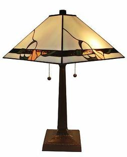 Amora Lighting AM057TL14 Tiffany Style Mission Design Table