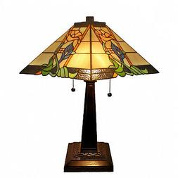 Amora Lighting AM058TL14B Tiffany Style Mission Table Lamp,