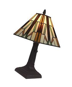 Amora Lighting AM100TL08 Tiffany Style Mission Table Lamp, 8