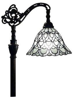 Amora Lighting AM107FL11 Tiffany Style Floor Lamp 62 In Adju