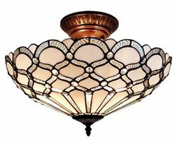 Amora Lighting AM108CL17 Tiffany Style Ceiling Fixture Lamp,