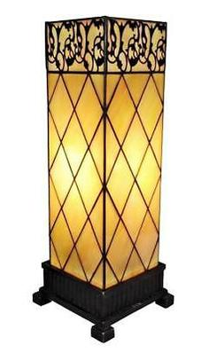Amora Lighting AM112TL06 Tiffany Style Table Lamp 17 In High