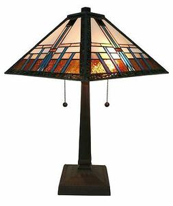 Amora Lighting AM239TL14 Tiffany Style Mission Table Lamp, 1
