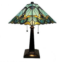 Amora Lighting AM254TL14B Tiffany Style Floral Mission Table