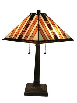 Amora Lighting AM291TL14 Tiffany Style Mission Table Lamp 22