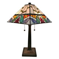 Amora Lighting AM305TL14 Tiffany Style Multi Color Mission T