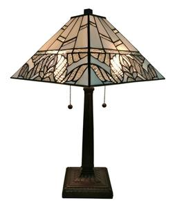 Amora Lighting AM306TL14 Tiffany Style White Mission Table L