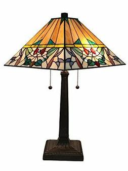 Amora Lighting AM309TL14 Tiffany Style Multi-Color Mission T