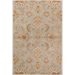 Diva At Home 4' x 8' Ash Gray, Autumn Yellow, Light Brown an