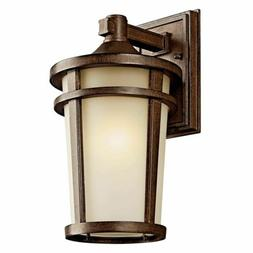 Atwood Outdoor One Light Wall Bracket in Brown Stone