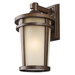 Atwood Outdoor Wall Lantern in Brown Stone - Size / Bulb Typ