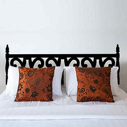 BATTOO Bedroom Carved Wooden Style Headboard Wall Decal Viny