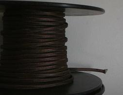 Brown Parallel Rayon Covered Wire Antique Vintage Style Clot