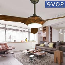 Brown White Black Ceiling Fans With Lights Remote Control li