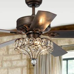 Ceiling Fans with Lights Crystal Chandelier Light Fixture Re