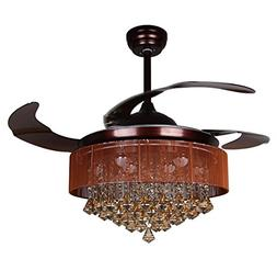 Parrot Uncle Ceiling Fan with Light 46 Inch LED Ceiling Fans