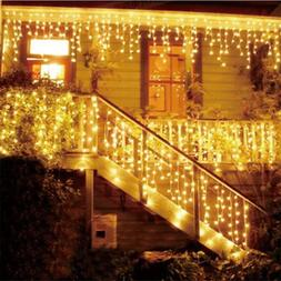 Kerst Guirlande LED Gordijn Ijspegel <font><b>String</b></fo
