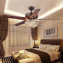 classical crystal ceiling fan lamp